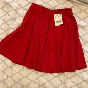 Zara red skirt